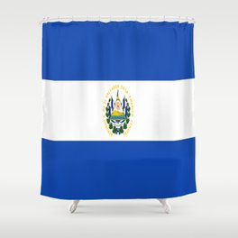 Flag of salvador - salvador,Salvadoran,San Salvador,salvadoreño,Guanaco. Shower Curtain