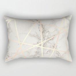Stylish marble & copper rose gold Rectangular Pillow