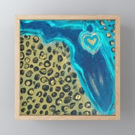 Florida Teal Love Framed Mini Art Print