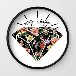 Stay Sharp! Wall Clock