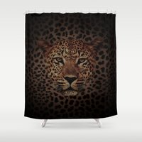 simba Shower Curtains featuring LEOPARD KING by alexa