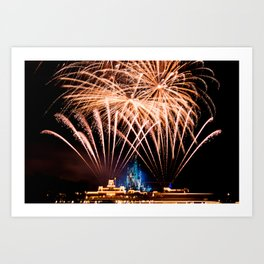 Castle Fireworks Art Print
