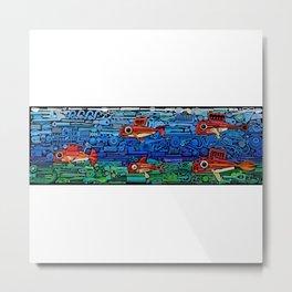 Fishes (white) Metal Print