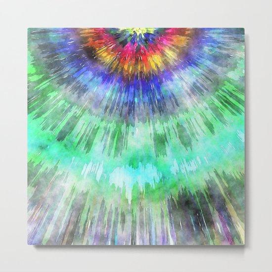 Textured Tie Dye Starburst Metal Print
