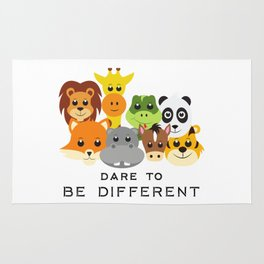 Dare to Be Different Gang of Animals Rug