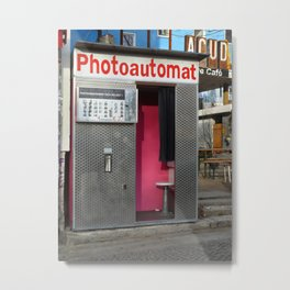 Old photo booth in Berlin, Germany Metal Print