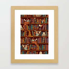 Bookshelf Framed Art Print