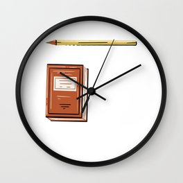 I Am Always Writing A Story In My Head Motive for a Writer Wall Clock