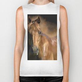 Brown horse animal portrait Biker Tank