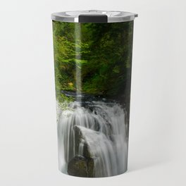 Scenic Waterfall in a Forest Travel Mug