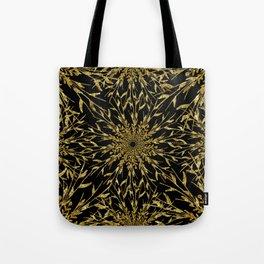 Black Gold Glam Nature Tote Bag