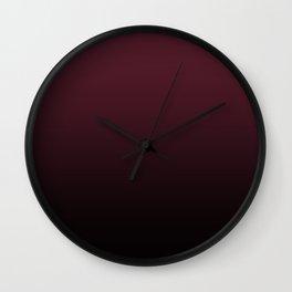 Burgundy Wine Ombre Gradient Wall Clock