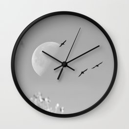 """""""Raven Moon 3"""" by Murray Bolesta Wall Clock"""