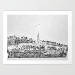 Billings Montana Temple Art Print
