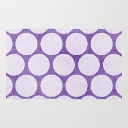 purple and white polka dots Rug