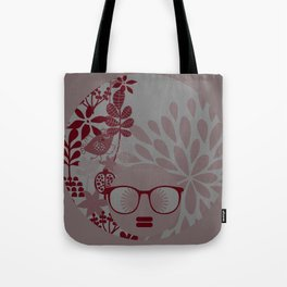 Afro Diva : Burgundy Sophisticated Lady  Tote Bag