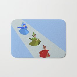 3 Fairies (Blue)  Bath Mat
