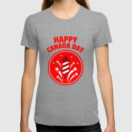 Happy Canada Day Fireworks  T-shirt