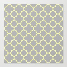 MOROCCAN {YELLOW/GRAY}  Canvas Print