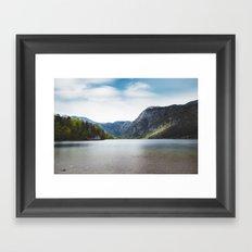 Lake Bohinj, Slovenia Framed Art Print