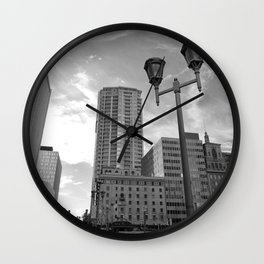 Black & White Downtown Phoenix Wall Clock