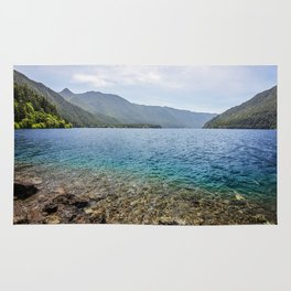Crescent Lake Olympic Peninsula Rug