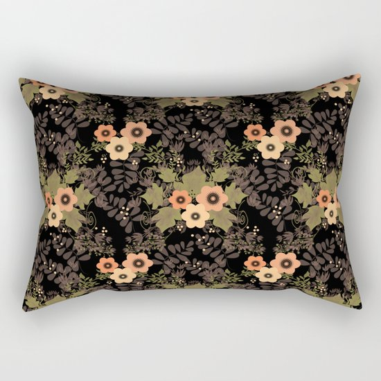 The floral pattern . Rectangular Pillow