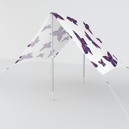 Fly With Pride: Bisexual Flag Butterfly Sun Shade