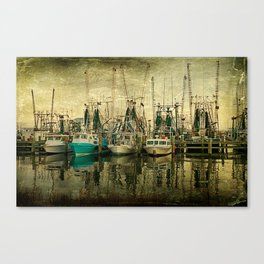 Shrimp Boat Lineup Canvas Print