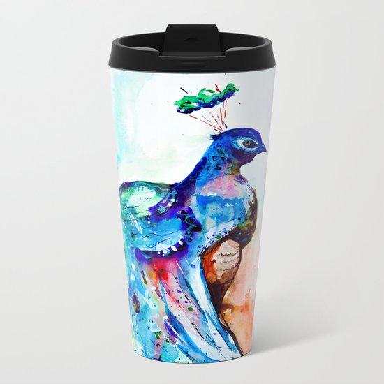 peacock Metal Travel Mug