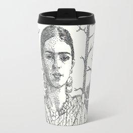 Frida Khalo and trees Travel Mug