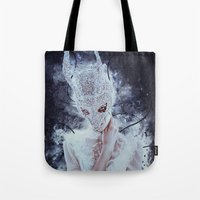 nightmare Tote Bags featuring Nightmare by Kryseis Retouche