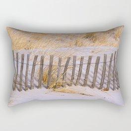 Scenic Beach Fence Rectangular Pillow