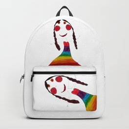 Rainbow Patience Girl Kids Backpack