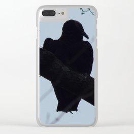 Turkey vulture silhouette Clear iPhone Case