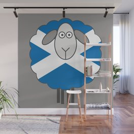 Scottish Saltire Flag Patterned Sheep Wall Mural