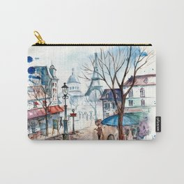 Retro cars cities streets illustration Carry-All Pouch