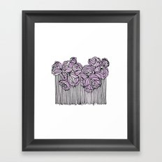 String Bouquet - Lavender Framed Art Print