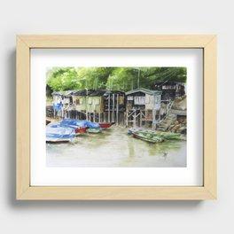 Fishermans Village Recessed Framed Print