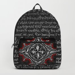 Noble House II CRUSADER RED / Grungy heraldry design Backpack
