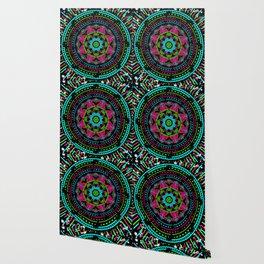 Mandala Energy in Neon Wallpaper