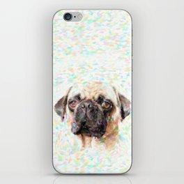 Pointillistic Pug iPhone Skin