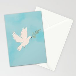 Dove of Peace with Olive Branch Stationery Cards