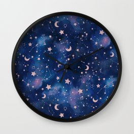 Zodiac - Watercolor Wall Clock
