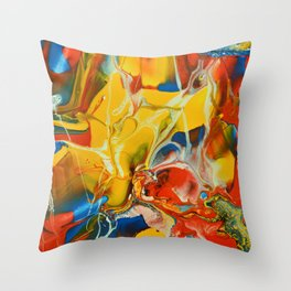 Color Explosion 1 Throw Pillow