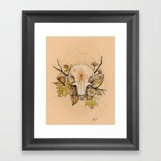 Squirrel Skull Framed Art Print