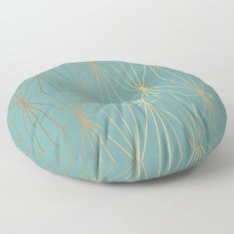 ELEGANT BLUE GOLD PATTERN Floor Pillow