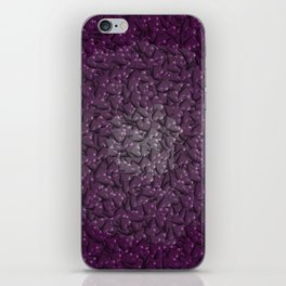 purple hearts iPhone Skin