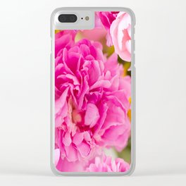 Large Pink Peony Flowers #decor #society6 #buyart Clear iPhone Case