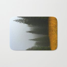 Olive Green Pines Bath Mat
